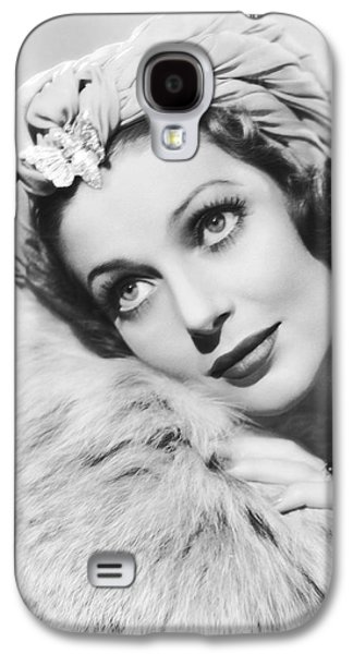 Actress Loretta Young Galaxy S4 Case by Underwood Archives