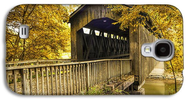 Ada Covered Bridge In Autumn Galaxy S4 Case by Randall Nyhof