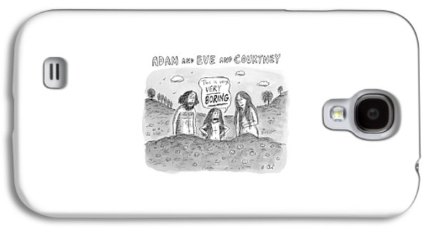 Adam And Eve And Courtney In The Garden Of Eden Galaxy S4 Case