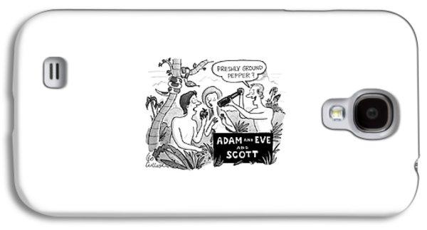 Adam And Eve And Scott Galaxy S4 Case