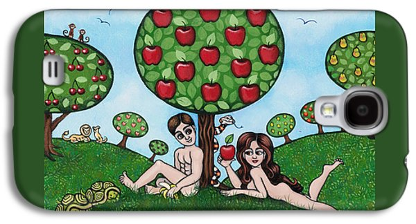 Adam And Eve The Naked Truth Galaxy S4 Case by Victoria De Almeida