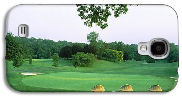 Adirondack Chairs In A Golf Course Galaxy S4 Case
