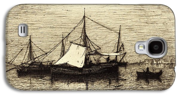 Adolphe Appian, French 1818-1898, Coasting Trade Vessels Galaxy S4 Case