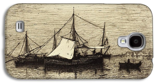 Adolphe Appian French, 1818 - 1898, Coasting Trade Vessels Galaxy S4 Case
