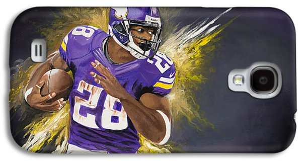 Adrian Peterson Galaxy S4 Case by Don Medina