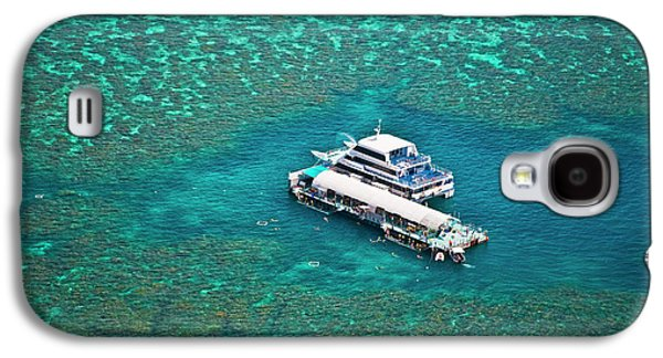 Aerial View Of A Tour Boat Docked Galaxy S4 Case