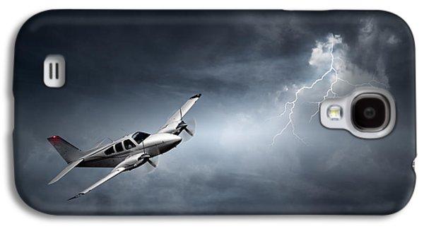Risk - Aeroplane In Thunderstorm Galaxy S4 Case by Johan Swanepoel