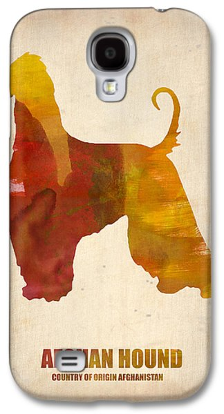 Afghan Hound Poster Galaxy S4 Case by Naxart Studio