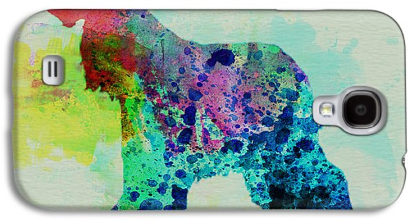 Afghan Hound Watercolor Galaxy S4 Case by Naxart Studio