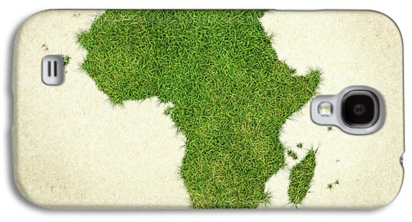 Africa Grass Map Galaxy S4 Case by Aged Pixel
