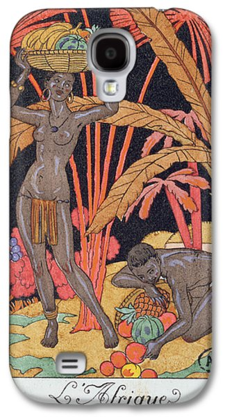 'africa' Illustration For A Calendar For 1921 Galaxy S4 Case by Georges Barbier
