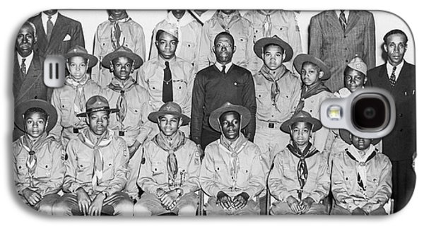 African American Boy Scouts Galaxy S4 Case by Underwood Archives