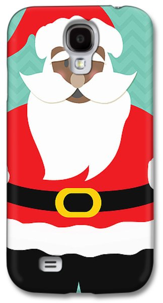 African American Santa Claus Galaxy S4 Case by Linda Woods