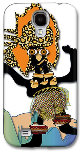 Galaxy S4 Case featuring the digital art African Dancer 6 by Marvin Blaine