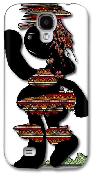 Galaxy S4 Case featuring the digital art African Dancer 7 by Marvin Blaine