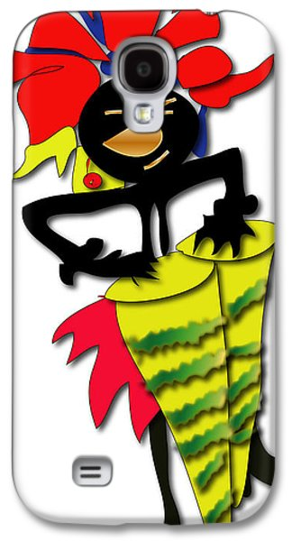 Galaxy S4 Case featuring the digital art African Drummer by Marvin Blaine
