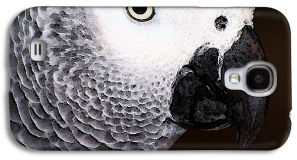 African Gray Parrot Art - Seeing Is Believing Galaxy S4 Case