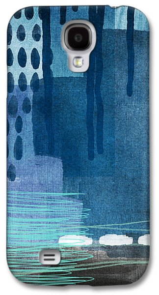 After Rain- Contemporary Abstract Painting  Galaxy S4 Case by Linda Woods