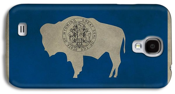 Aged Wyoming State Flag Galaxy S4 Case by Dan Sproul