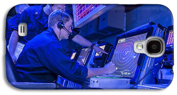 Air Traffic Controllers Monitor An Air Galaxy S4 Case by Stocktrek Images