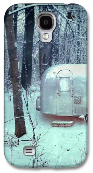 Airstream Trailer In Snowy Woods Galaxy S4 Case