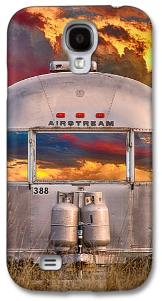 Airstream Travel Trailer Camping Sunset Window View Galaxy S4 Case by James BO  Insogna