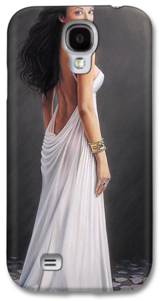Aishwarya Rai - Oil On Canvas Galaxy S4 Case by Mike Roberts