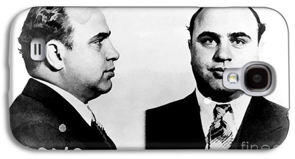 Al Capone Mug Shot Galaxy S4 Case by Edward Fielding