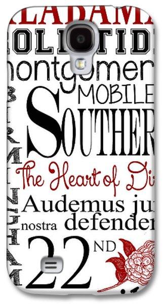 Alabama Galaxy S4 Case by Heather Applegate