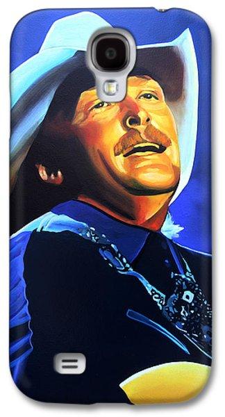 Alan Jackson Painting Galaxy S4 Case by Paul Meijering