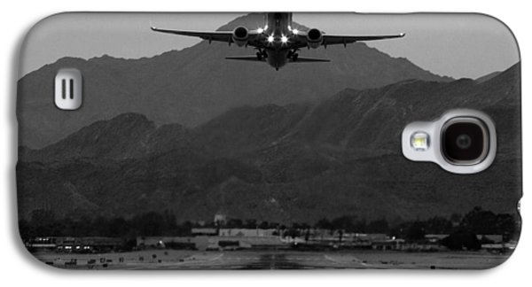 Alaska Airlines Palm Springs Takeoff Galaxy S4 Case by John Daly