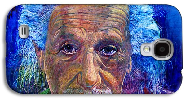 Image Paintings Galaxy S4 Cases - Albert Einstein Galaxy S4 Case by David Lloyd Glover