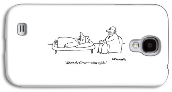 Albert The Great - What A Joke Galaxy S4 Case by Charles Barsotti