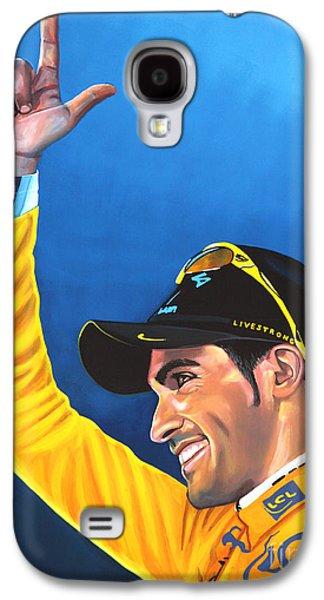 Alberto Contador Galaxy S4 Case by Paul Meijering