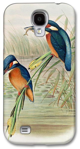 Alcedo Ispida Plate From The Birds Of Great Britain By John Gould Galaxy S4 Case by John Gould William Hart