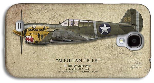 Aleutian Tiger P-40 Warhawk - Map Background Galaxy S4 Case by Craig Tinder