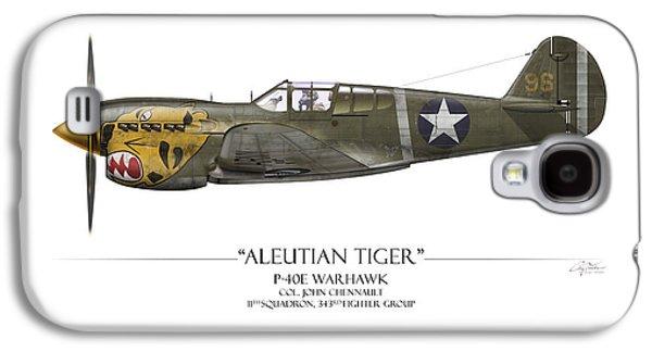 Aleutian Tiger P-40 Warhawk - White Background Galaxy S4 Case by Craig Tinder