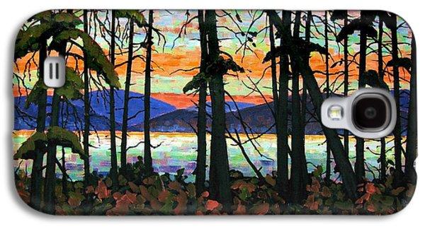 Algoma Sunset Acrylic On Canvas Galaxy S4 Case