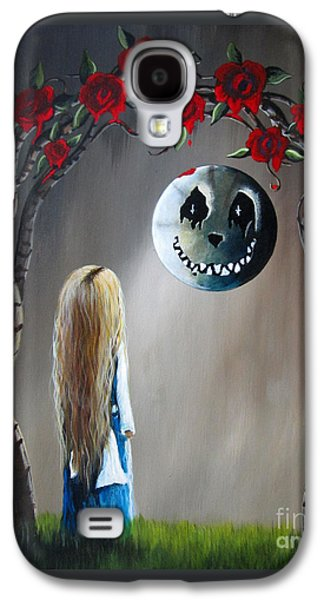 Alice In Wonderland Original Artwork - Alice And The Beautiful Nightmare Galaxy S4 Case by Shawna Erback