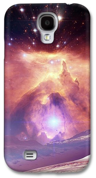 Alien Planet And Nebula Galaxy S4 Case