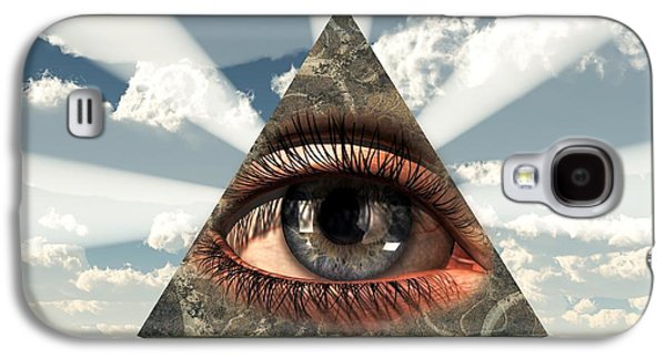 All Seeing Eye Galaxy S4 Case by Christian Art
