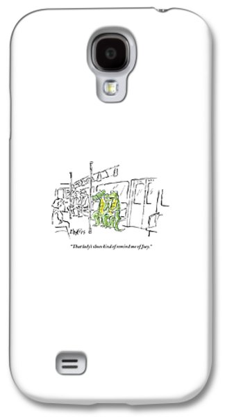 Reptiles Galaxy S4 Case - Alligators Riding The Subway by Sidney Harris
