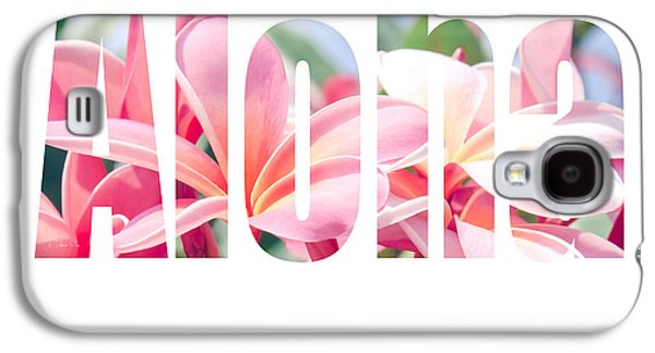 Aloha Tropical Plumeria Typography Galaxy S4 Case