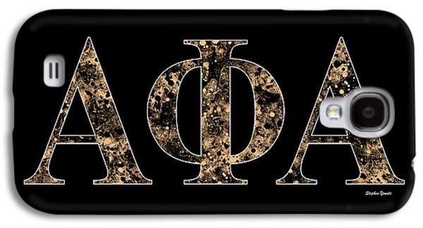 Alpha Phi Alpha - Black Galaxy S4 Case by Stephen Younts