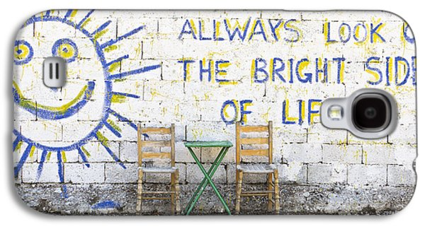 Always Look On The Bright Side Of Life Galaxy S4 Case by Tom Gowanlock