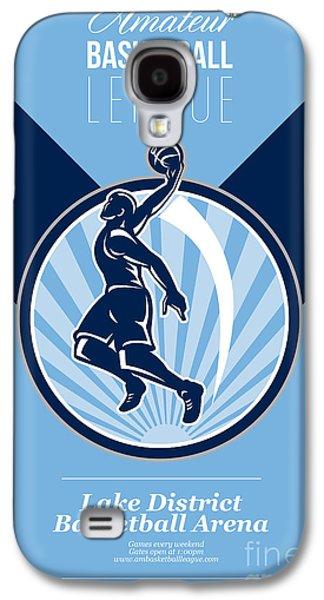 Amateur Basketball League Retro Poster Galaxy S4 Case