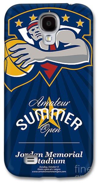 Amateur Summer Basketball League Open Poster Galaxy S4 Case