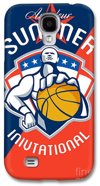 Amateur Summer Invitational Basketball Poster Galaxy S4 Case