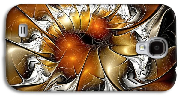 Amber Vortex Galaxy S4 Case