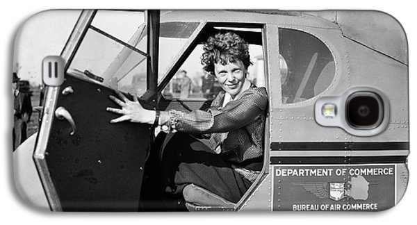 Amelia Earhart Galaxy S4 Case by Library Of Congress